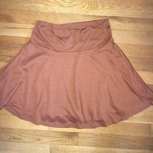 Burnt Orange Fit & Flare Skirt